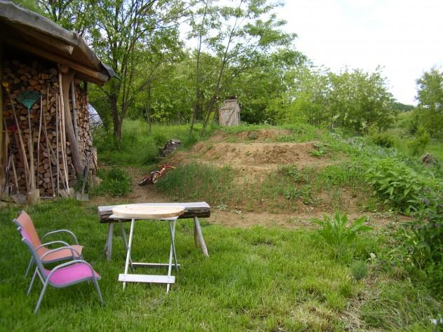 Teraszos spirál alakú kert